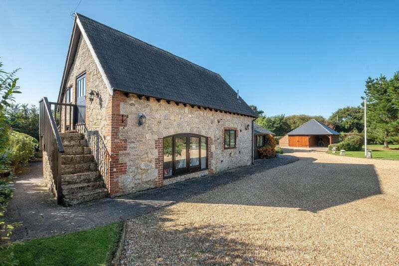 A self-contained Granny Annex for sale alongside a 4 bedroom farmhouse.