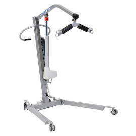 A portable hoist is a portable way to move your loved one but requires two people to operate it effectively.