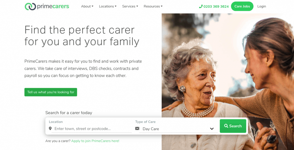 An introductory service like PrimeCarers can be a low stress place to find a private carer.